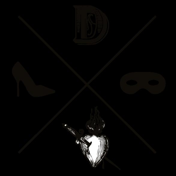 Collier Découpé Cuir Epais - Noir